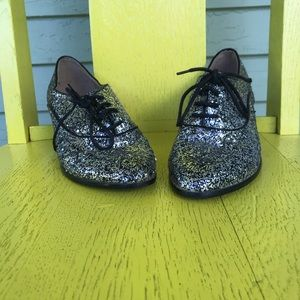 F24 size 6.5 sparkly lace up shoes